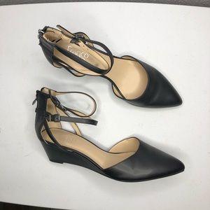 NWOT Franco Sarto Trudy Black Wedges Size 11